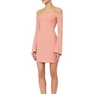 Cinq A Sept Off The Shoulder Pink Valentine Dress